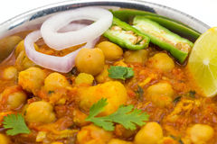 Chana Masala - An Indian spicy vegetarian dish for lunch and din Stock Photo