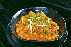 Chana masala Pune, India. Bowl with Chana masala Pune, India royalty free stock photography