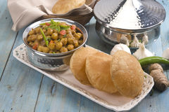 Chana Masala with Puri Royalty Free Stock Images