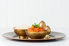 Chana Masala and Rice Royalty Free Stock Photo