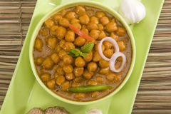 Chana Masala or Spicy Chickpeas Stock Photography