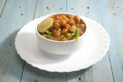 Chana Masala or Spicy Chickpeas Royalty Free Stock Photography