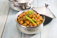 Chana Masala or Spicy Chickpeas Stock Photos