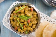 Chana Masala or Spicy Chickpeas Stock Photos