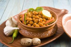 Chana Masala or Spicy Chickpeas Royalty Free Stock Image