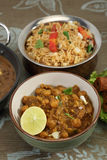 Chana Masala or Spicy Chickpeas, Indian Food Stock Photo
