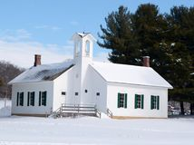 Chana-Schule im Schnee Stockfotos