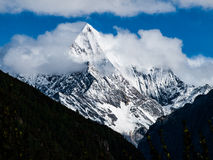 Chanadorje. Dramatic weather at Chanadorje mountain in Yading nature reserve in Sichuan (China Stock Photography