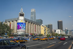 Chanan street in Beijing Stock Photography