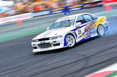 Chanapol drifting his car at Formula Drift 2010 Stock Photo
