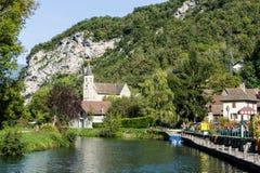 Chanaz - Frankrike Arkivfoto