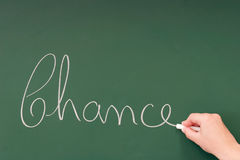 Chance. Written on a blackboard with chalk Royalty Free Stock Photo