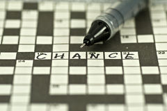 Chance. A shot of crossword with word chance stock photography