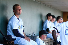 Chance Adams. Charleston RiverDogs pitcher Chance Adams waiting to get into the game Royalty Free Stock Photo