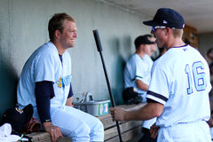 Chance Adams and Collin Slaybaugh, Charleston RiverDogs Royalty Free Stock Photography