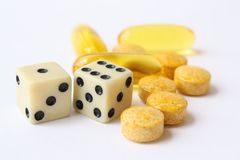 Chance Against Disease. Medicine provides an opportunity to fight disease Stock Photo