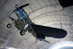 Chance el corsario/el aire y el museo espacial de Vought F4U Imagenes de archivo