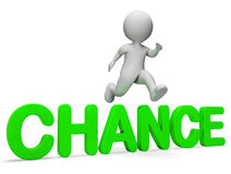 Chance Get Represents Probability Possible And Having 3d Rendering. Chance Get Indicating Jump Betting And Illustration 3d Rendering stock illustration