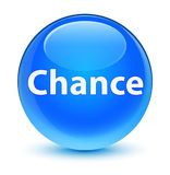 Chance glassy cyan blue round button Stock Images
