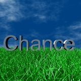 chance logoen Royaltyfria Foton