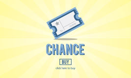 Chance Lotto Lottery Price Win Concept royalty free illustration