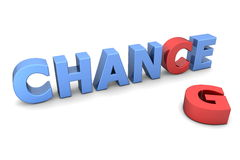 Chance pour changer II - rouge et bleu illustration libre de droits