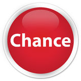 Chance premium red round button. Chance isolated on premium red round button abstract illustration vector illustration