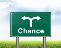 Chance road sign. A chance road sign with two directions stock illustration