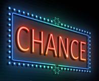 Chance sign concept. Stock Photos