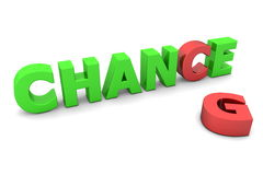 Chance to Change II - Red and Green Stock Photography