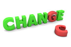Chance to Change - Red and Green Royalty Free Stock Photography