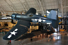 Chance Vought F4U Corsair / Air and Space Museum. The Marine Corps premier fighter plane in the Pacific theater from World War II. Now this version is on display Stock Photo