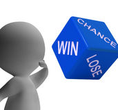 Chance Win Lose Dice Shows Gambling And Risk Royalty Free Stock Images