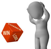 Chance Win Lose Dice Shows Good Luck Royalty Free Stock Photography