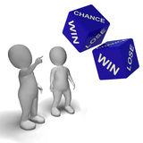 Chance Win Lose Dice Shows Luck. Chance Win Lose Dice Shows Good Or Bad Luck stock illustration