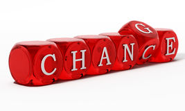 Chance word turning to change. 3D illustration.  stock illustration