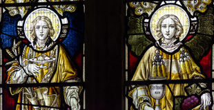 Chancel цветного стекла церков Сент-Эндрюса южный Стоковая Фотография