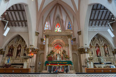 The chancel altar area of Saint Mary's Cathedral in Bangalore. Royalty Free Stock Photography