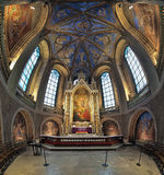 Chancel and altar of Turku Cathedral, Finland Royalty Free Stock Image