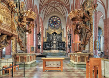 Chancel And Altar Of Storkyrkan (The Great Church) In Stockholm, Sweden Stock Images