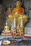 Chancel of buddhist temple in Luang Prabang Stock Photo