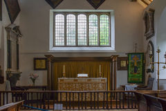 Chancel of Saint Orwald church in Grasmere. Royalty Free Stock Photos
