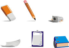 Chancellery. Office items - computer web icon Stock Photo
