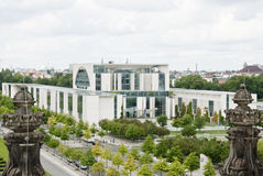 Chancellery in Berlin. Germany, seen from the Reichstag Stock Images