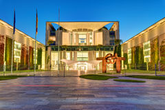 The chancellery in Berlin at night Stock Image