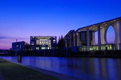 Chancellery building in berlin at blue our Royalty Free Stock Image