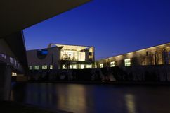 Chancellery building in berlin at night Stock Images