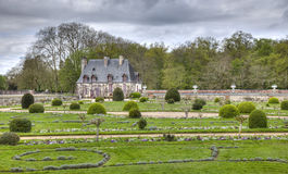 Chancellery from the Diane de Poitiers Garden of Chenonceau Cast Royalty Free Stock Image