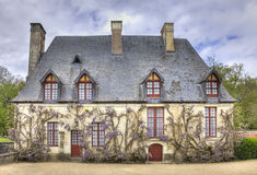 Chancellery from the Garden of Chenonceau Castle. The Chancellery, the house of the estate steward, located in the Diane de Poitiers garden near the Chenonceau Stock Images