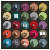 Chancellery icons, vector illustration. Royalty Free Stock Images